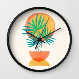 Summer Eclipse / Mid Century Abstract Shapes Wall Clock