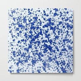 blue splatter Metal Print