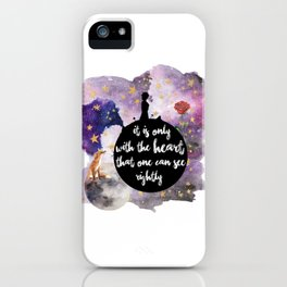 Little Prince With the Heart iPhone Case