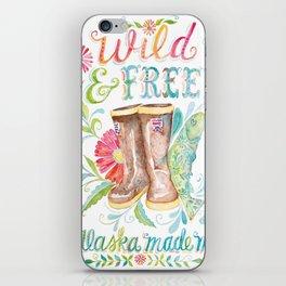Wild and Free, Alaska Made Me iPhone Skin