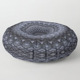 Dark gray mandala Floor Pillow