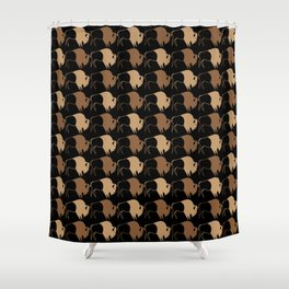 Native American Buffalo Running Shower Curtain