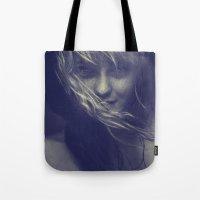 tye dye Tote Bags featuring Dye by Imustbedead