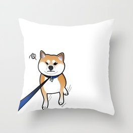 Shiba Inu Says No! Throw Pillow