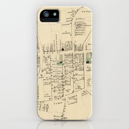 Vintage Map of Huntington NY (1873) iPhone Case