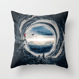 Stereographic Projection by GEN Z Throw Pillow