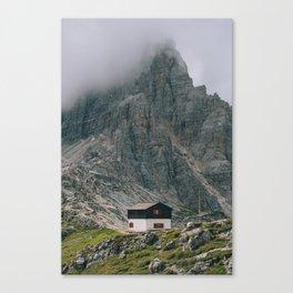 Hut at Locatelli Canvas Print