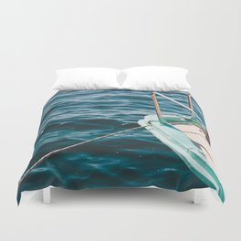 BOAT - WATER - SEA - PHOTOGRAPHY Duvet Cover