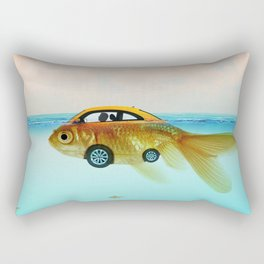 Goldfish Submarine Rectangular Pillow