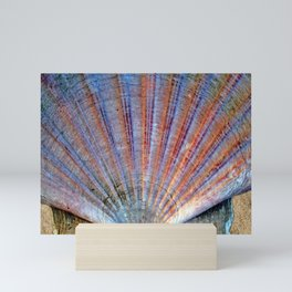 Scallop Shell on the Sand Mini Art Print
