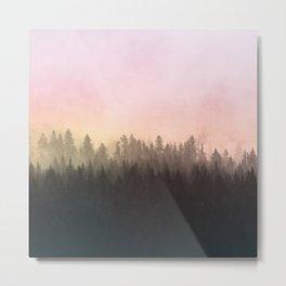Foggy woods Metal Print