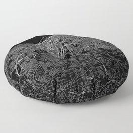 Cleveland Black Map Floor Pillow