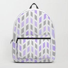 Purple Gray Chevron Mosaic Tile Backpack