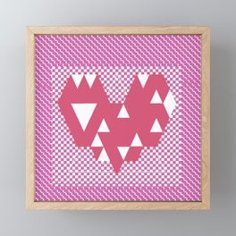 Heart pink Framed Mini Art Print