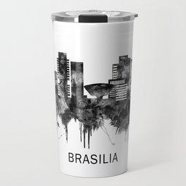 Brasilia Brazil Skyline BW Travel Mug