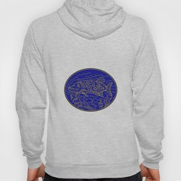 Northern Pike Fish Oval Mono Line Hoody