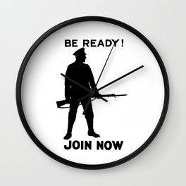 Be Ready - Join Now Wall Clock
