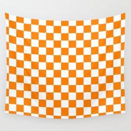 Checker (Orange/White) Wall Tapestry