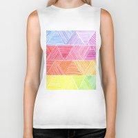 rainbow Biker Tanks featuring Rainbow by Elisa Rosa
