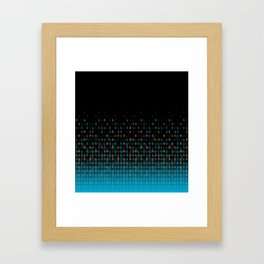 Binary Speed Framed Art Print