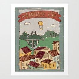 Fantastic City Art Print