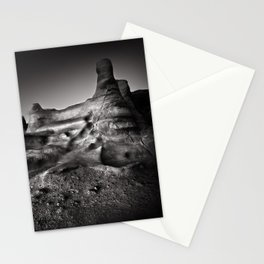 Moonscape, rock formations. Stationery Cards