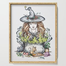 Good witch's kitchen Serving Tray