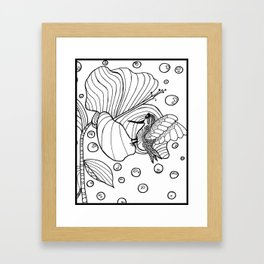 Hummingbird Flower(from Shrooms and Blooms) Framed Art Print