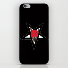 A pentacle bat skull on hoodies , phone cases and all over print shirts iPhone Skin