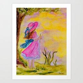 Pink Hat Art Print