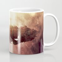 plane Mugs featuring Celestial Plane by Bighand illustration