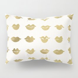 Kiss Collection – Gold Ink Pillow Sham