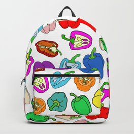 Rainbow Bell Peppers Paprika Backpack