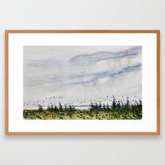 the bay Framed Art Print