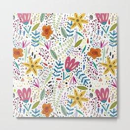 Flowers Paint Metal Print