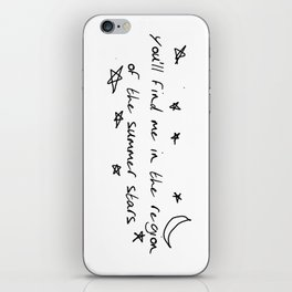 you'll find me in the region of the summer stars (liam) iPhone Skin