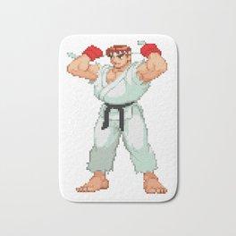 Ryu Hoshi Pixel Art Bath Mat