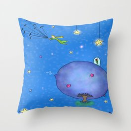 Fly Away Little Prince Throw Pillow