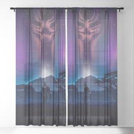 Black Panther Heaven Sheer Curtain