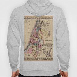 Map Of Palestine 1856 Hoody