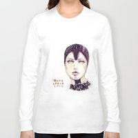 fashion illustration Long Sleeve T-shirts featuring Fashion illustration  by Ioana Avram