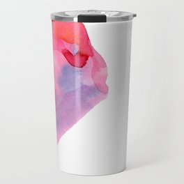 Follow Your Heart - watercolor abstract minimalism modern art Travel Mug
