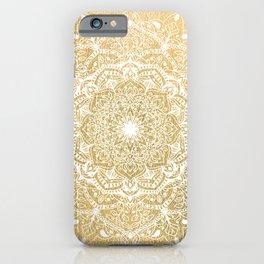 NATURE DETAILS MANDALA IN GOLD iPhone Case
