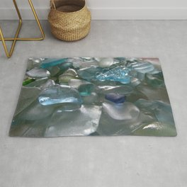 Ocean Hue Sea Glass Assortment Rug
