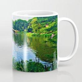 Central Park Bridge Over Peaceful Waters Coffee Mug