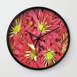 Autumn Mums Wall Clock