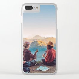 Sunset over Mount Bromo Clear iPhone Case