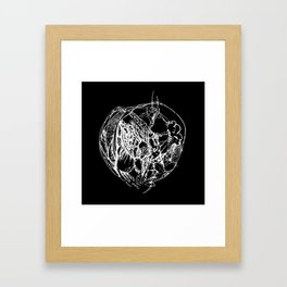 Heart of Chaos negative Framed Art Print