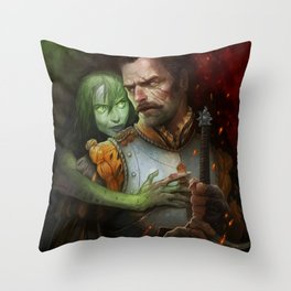 Condemned By Fire Throw Pillow
