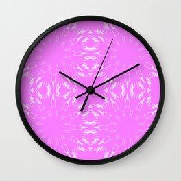 Orchid Color burst Wall Clock